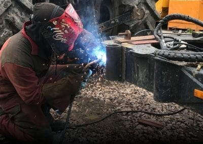 Vallance man welding