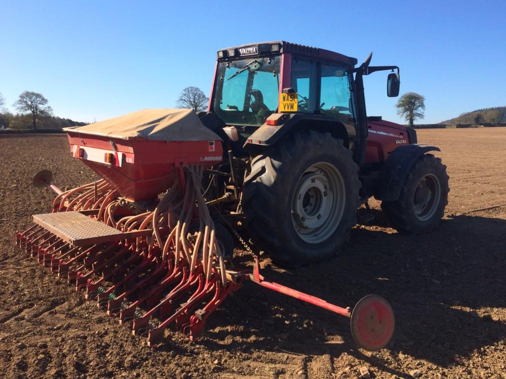 Vallance tractor working in field